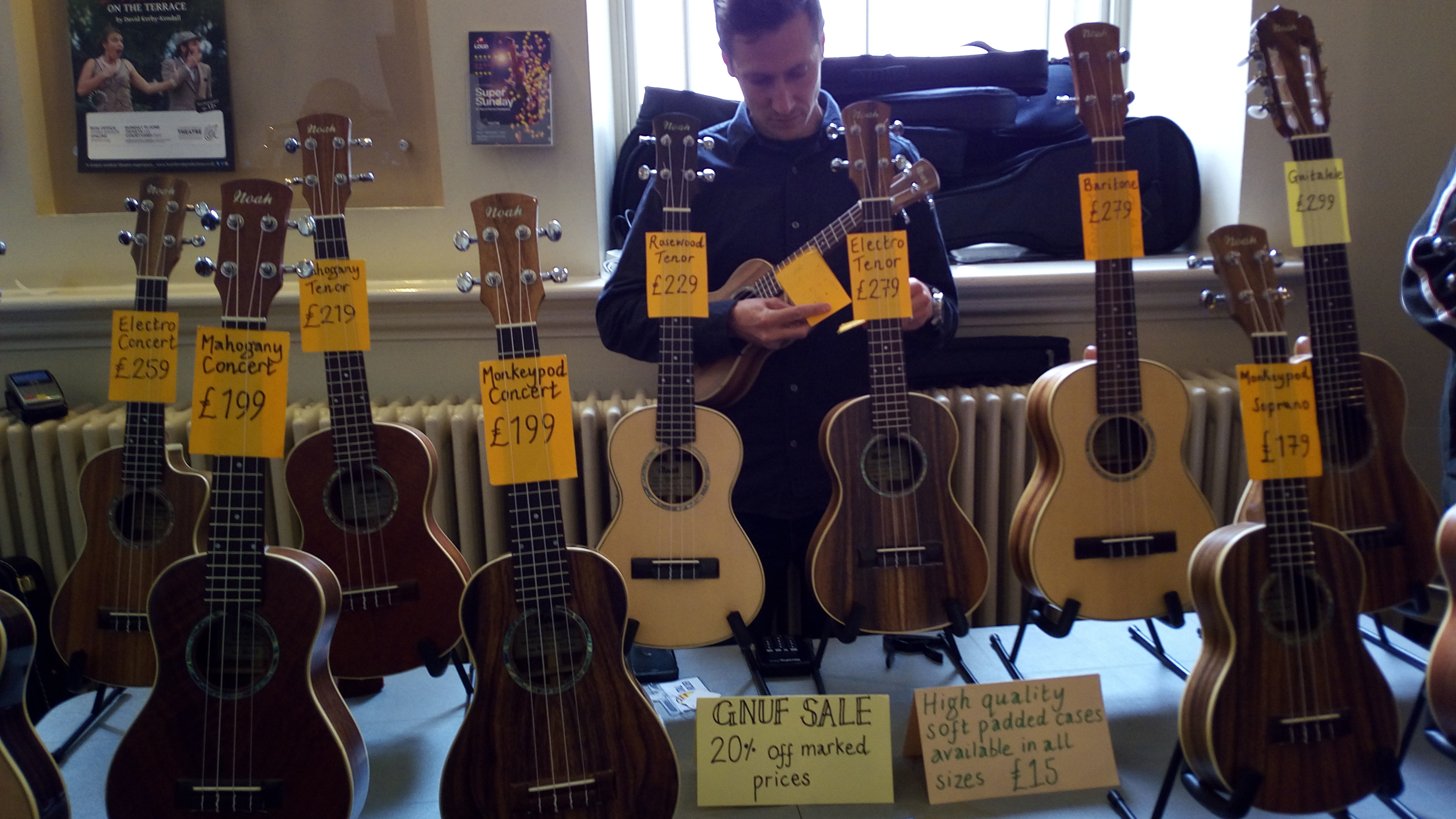 Hull ukulele group other stalls sold hangers to put your beloved uke on a wall straps to put your uke around your neck t shirts badges raffle tickets stickers hexwebz Gallery