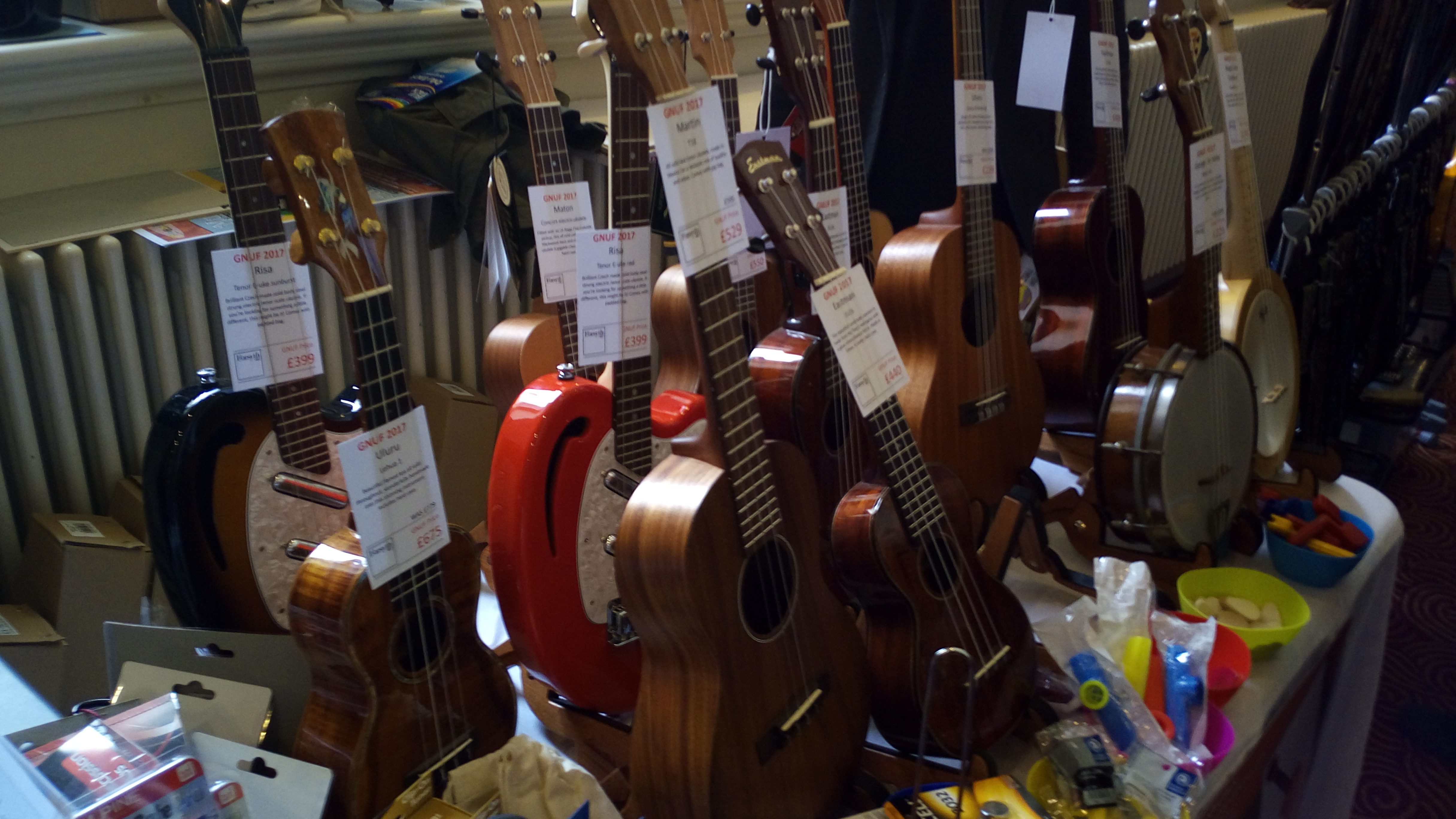 Hull ukulele group other stalls sold hangers to put your beloved uke on a wall straps to put your uke around your neck t shirts badges raffle tickets stickers hexwebz Images