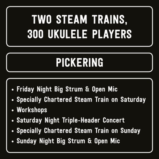 Image result for Uke Express Steam Train and Uke Weekend